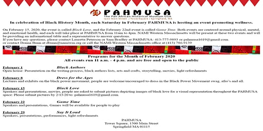 PAHMUSA  Presents A Celebration of Black History Month