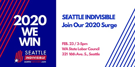 SEATTLE INDIVISIBLE: 2020 WE WIN! tickets