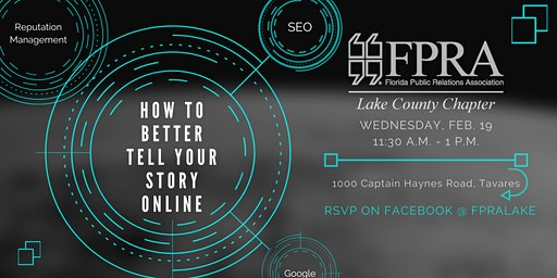 FPRA Lake February Meeting: Are You Telling Your Best Story Online?