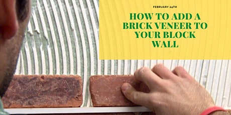 How To Add A Brick Veneer To Your Block Wall tickets