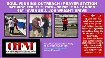 Outreach Soul Winning  / Prayer Station - Cordele GA