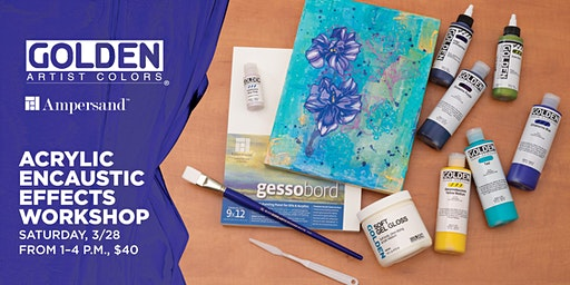 Acrylic Encaustic Effects Workshop at Blick Miami