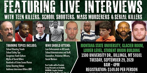 Profiling Teen Killers, School Shooters, Mass Murderers and Serial Killers by Phil Chalmers-Billings, Montana-September 29, 2020