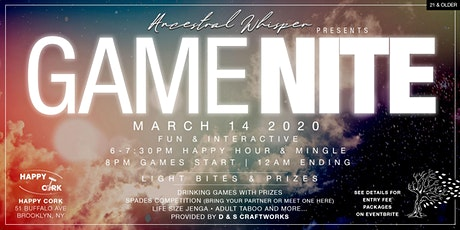 Ancestral Whisper Hosts GAME NITE tickets