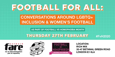 Football for All: Conversations around LGBTQ+ inclusion & women's football tickets