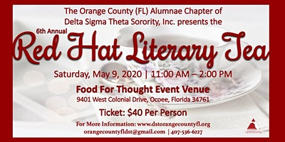 "6th Annual Red Hat Literary Tea - ""Our Community: Love and  Loyalty - from Generation to Generation"""