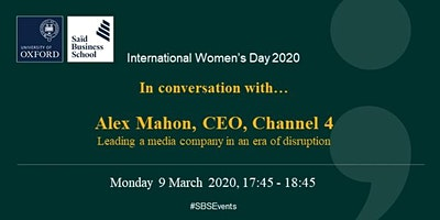 International Women's Day 2020 - Alex Mahon