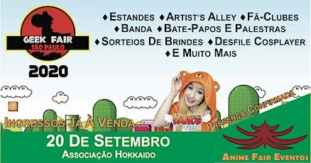 Geek Fair São Paulo 2020 ingressos
