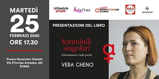 """Vera Gheno dialoga su """"Femminili singolari - il femminismo è nelle parole"""""""