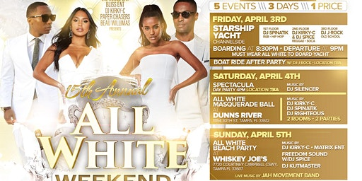 15TH ANNUAL ALL WHITE WEEKEND