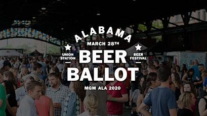 Alabama Beer Ballot tickets