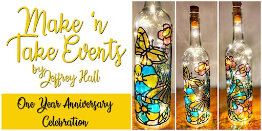 Make N Take Event - Stained Glass Bottle-Butterfly