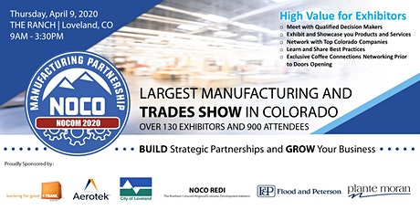 NOCOM Manufacturing and Trades, Trade Show 4/9/2020 - Exhibitors tickets