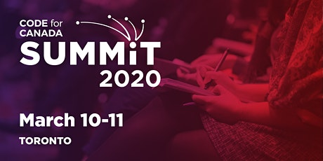The 2020 Code for Canada Summit tickets