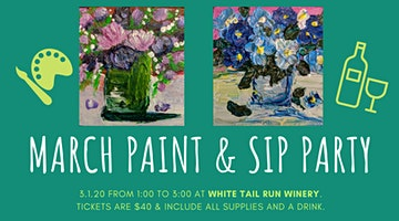 Paint and Sip Party at White Tail Run Winery