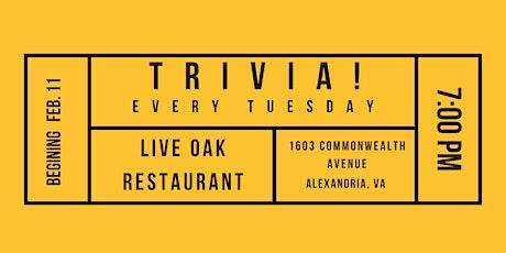 Trivia Tuesdays at Live Oak! tickets