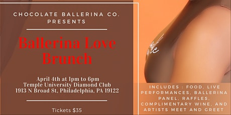 "Chocolate Ballerina Company 3rd Annual Fundraiser ""Ballerina Love Brunch"" tickets"