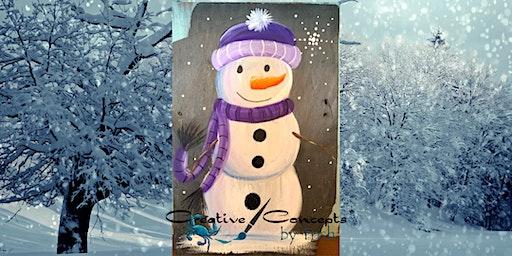 Snowman Slate Paint Night