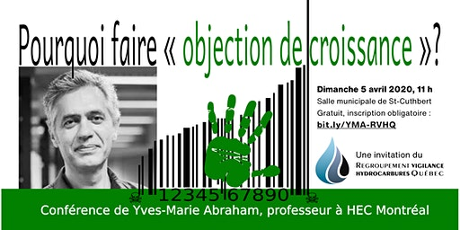 Conférence avec M. Yves-Marie Abraham