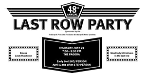 Last Row Party 2020