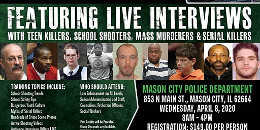 Profiling Teen Killers, School Shooters, Mass Murderers and Serial Killers by Phil Chalmers-Mason City, Illinois-April 8, 2020