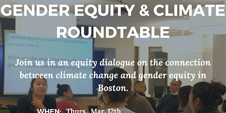 Greenovate Boston Gender Equity & Climate Roundtable 2 tickets