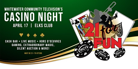 WCTV's 21 for Fun Casino Night tickets