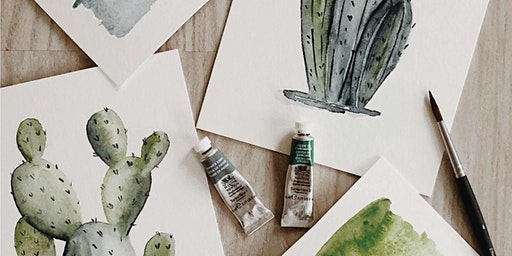 Mother's Day Watercolor Cacti Class
