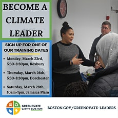 2020 Winter Greenovate Boston Leaders 3 - Jamaica Plain tickets
