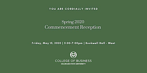 Spring 2020 Graduate Programs Commencement Reception