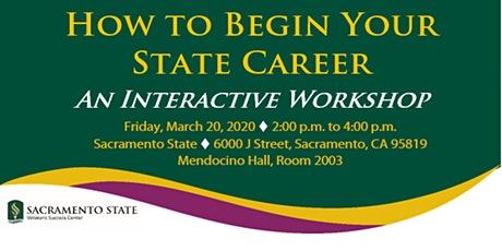 How to Begin Your State Career: An Interactive Workshop tickets