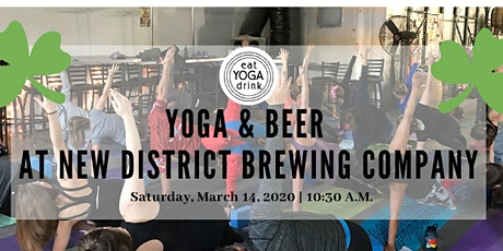 Yoga & Beer at New District tickets