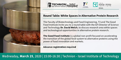 Technion Round Table: White Spaces in Alternative Protein Research