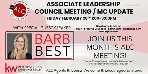 ALC & Monthly Meeting Feb 28th