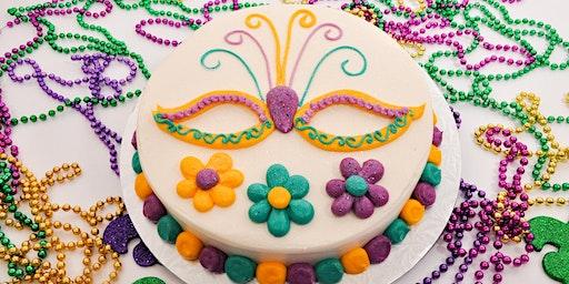 Mardi Gras Cake Decorating Class February 24,2020