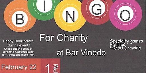 Signs of Sunshine Bingo at Bar Vinedo!