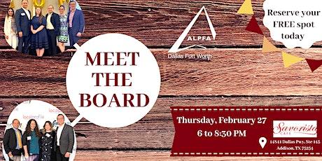 ALPFA DFW Meet the Board Mixer tickets