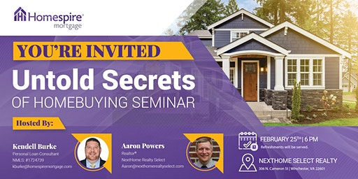 Untold Secrets Homebuyer Seminar