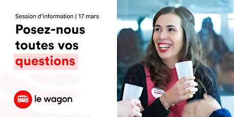 Session d'information |Le Wagon Montréal vous ouvre ses portes tickets