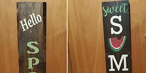 Spring/Summer Reversible Board Painting & Wine