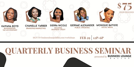 Quarterly Business Seminar tickets