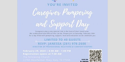 Caregiving Pamper and Support Day