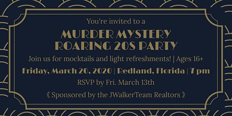 Roaring 20's party tickets