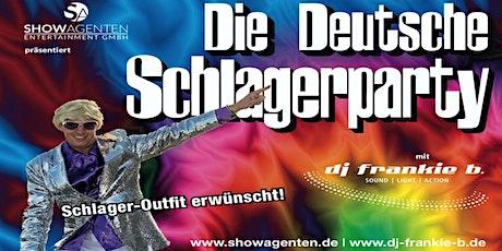 Die Deutsche Schlagerparty - DJ Frankie b. präsentiert Ausgabe Nr. 21 Tickets