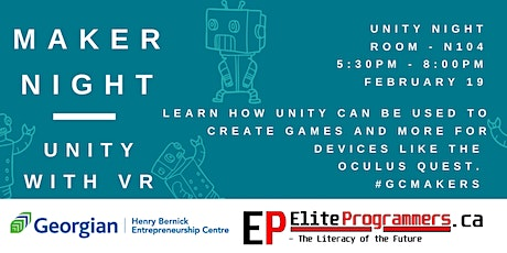 Maker Night: Unity and VR tickets