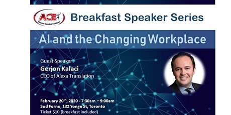 ACE Breakfast Speaker Series - AI and the changing Workplace tickets