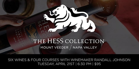 Hess Collection Wine Dinner With Winemaker Randall Johnson tickets