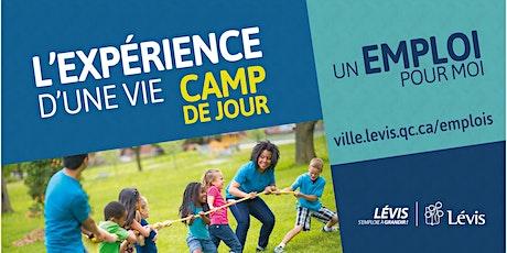 Camp de jour de la Ville de Lévis - Liste de rappel 2020 billets