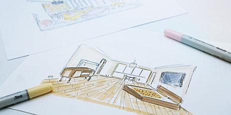 Sketching Interiors Part 2: Two-Point Perspective for Beginners (ONLINE) tickets