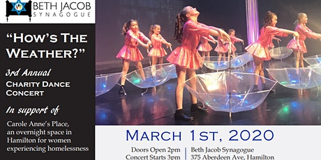 Charity Dance Concert in support of Carole Anne's Place tickets